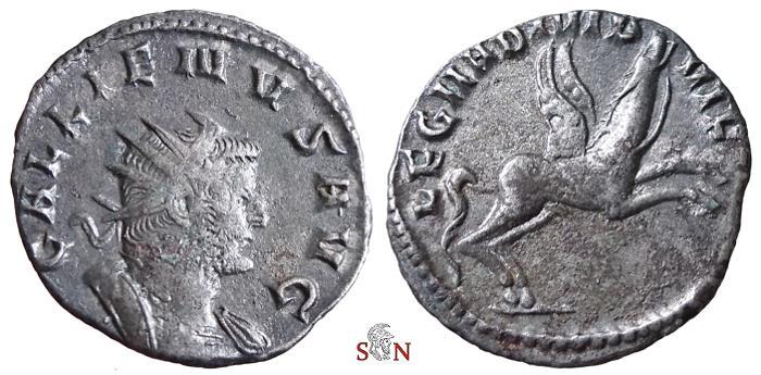Ancient Coins - Gallienus Antoninianus - Legio II Adiutrix - RIC 324