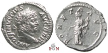 Ancient Coins - Caracalla Denarius - MONETA AVG - RIC 224