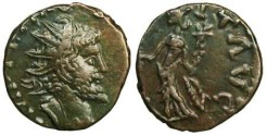 Ancient Coins - Tetricus I local imitation - Hilaritas standing left - barbarous radiate