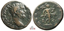 Ancient Coins - Septimius Severus As - MARS PATER - Rare - RIC 583