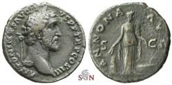 Ancient Coins - Antoninus Pius AE As - ANNONA AVG - RIC 675