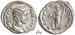 Ancient Coins - Julia Mamaea Denarius - VENVS VICTRIX - RIC 358