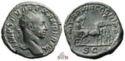 Ancient Coins - Severus Alexander Dupondius - Quadriga right - RIC 497