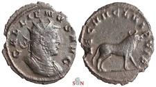 Ancient Coins - Gallienus Antoninianus - LEG VII CL VI P VIF - Bull right - Goebl 1006n