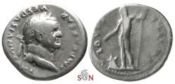 Ancient Coins - Vespasianus Denarius - IOVIS CVSTOS - RIC 849