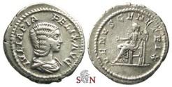 Ancient Coins - Julia Domna Denarius - VENVS GENETRIX - RIC 388c
