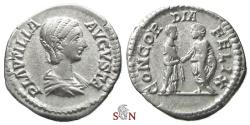 Ancient Coins - Plautilla Denarius - CONCORDIA FELIX - RIC 365 a