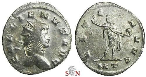 Ancient Coins - Gallienus Antoninianus - AETERN AVG - RIC 465a