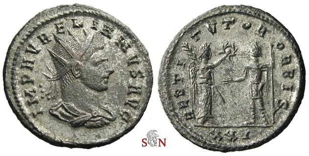 Ancient Coins - Aurelianus Antoninianus - RESTITVTOR ORBIS - RIC 369 - 5 specimens in RIC online