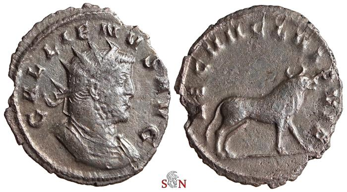 Ancient Coins - Gallienus Antoninianus - LEG VII CL VI P VIF - Bull right - Goebl 1006n