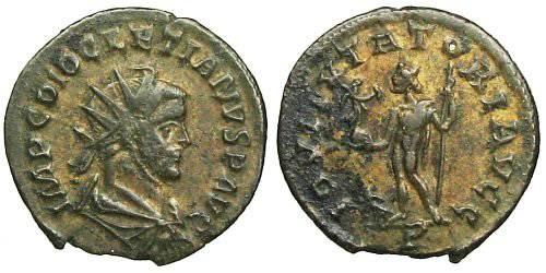 Ancient Coins - Diocletianus Antoninianus - IOVI TVTATORI AVGG - RIC 53