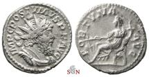 Postumus Antoninianus - Fortuna seated left - Very Rare - Elmer 384