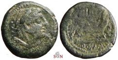 Ancient Coins - Roman Republic - Anonymous AE Quadrans - ROMA - Hercules with club