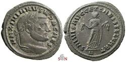 Ancient Coins - Galerius Follis - Carthage holding Fruits - RIC 32 b