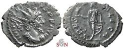 Ancient Coins - South Petherton Hoard (UK) - Tetricus I. Antoninianus - SPES PVBLICA - Elmer 764