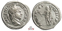 Ancient Coins - Caracalla Denarius - Hercules holding club and branch - RIC 206a
