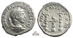 Ancient Coins - Elagabalus Denarius - FIDES MILITVM - RIC 78