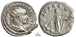 Ancient Coins - Gordianus III Antoninianus - LAETITIA AVG N - RIC 86