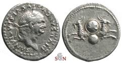Ancient Coins - Divus Vespasianus Denarius - two capricorns - RIC 357