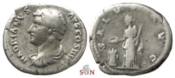 Ancient Coins - Hadrianus Denarius - SALVS AVG - very rare with left facing bust (!) - RIC 268