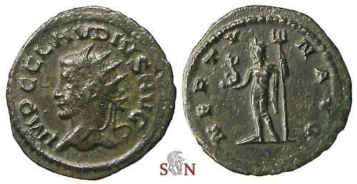 Ancient Coins - Claudius II Gothicus Antoninianus - NEPTVN AVG - RIC 214 var.