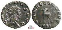 Ancient Coins - Gallienus Antoninianus - Antelope walking left - Göbl 750b