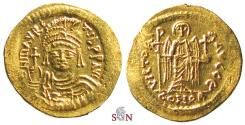 Ancient Coins - Maurice Tiberius Gold Solidus - VICTORIA AVGGB - Sear 589