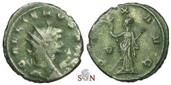 Ancient Coins - Gallienus Antoninianus - PAX AVG / V - RIC 256