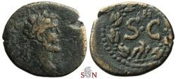 Ancient Coins - Antoninus Pius AE 19 mm - SC in laurel wreath - Antioch mint