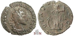 Ancient Coins - Aurelianus Antoninianus - VIRTVS AVG - RIC 141 - rare