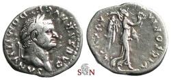 Ancient Coins - Domitianus as Caesar Quinarius - struck under Vespasianus - Victory adv. right - RIC 250