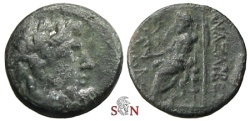 Ancient Coins - Cilicia, Anazarbus, AE 20mm - Zeus enthroned left - struck under Tarkondimotos I. 39-31 BC.