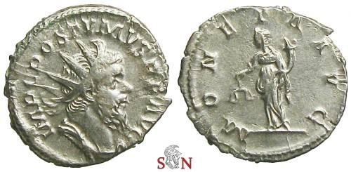 Ancient Coins - Postumus Antoninianus - MONETA AVG - Elmer 336