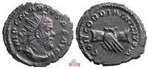 Ancient Coins - Marius Antoninianus - CONCORDIA MILITVM - clasped hands - Elmer 632