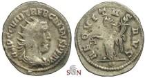 Ancient Coins - Trebonianus Gallus Antoninianus - AEQVITAS AVG - RIC 80