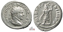 Ancient Coins - Caracalla Antoninianus - Serapis stg. left - RIC 289 f