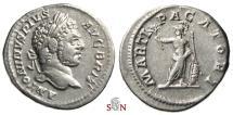 Ancient Coins - Caracalla Denarius - MARTI PACATORI - RIC 222