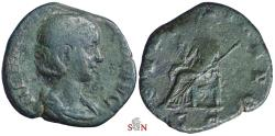 Ancient Coins - Herennia Etruscilla Sestertius - PVDICITIA AVG - RIC 136b
