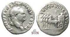 Ancient Coins - Titus as Caesar Denarius - Quadriga pacing left - RIC 1073 - scarce