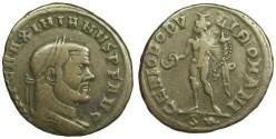 Ancient Coins - Maximianus Herculius Follis - GENOI POPVLI ROMANI / S* - Rome mint - RIC 94 b