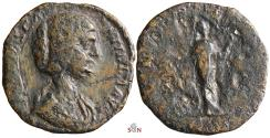 Ancient Coins - Manlia Scantilla AE Sestertius- Wife of Didius Julianus - RIC 18a