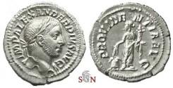 Ancient Coins - Severus Alexander Denarius - PROVIDENTIA AVG - Annona stg left - RIC 250