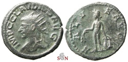 Ancient Coins - Claudius II. Gothicus Antoninianus - SALVS AVG - Apollo stg. facing - RIC online 1051