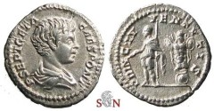 Ancient Coins - Geta Denarius - PRINC IVVENTVTIS - RIC 18