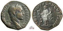 Ancient Coins - Severus Alexander Sestertius - LIBERALITAS AVGVSTI IIII - RIC 575