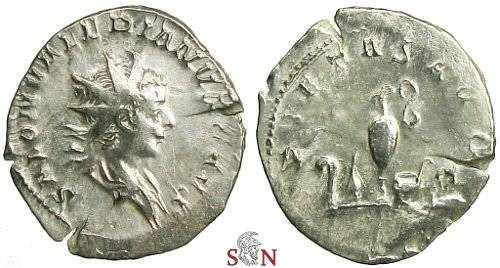 Ancient Coins - Saloninus Antoninianus - PIETAS AVG - Cologne mint - RIC 9