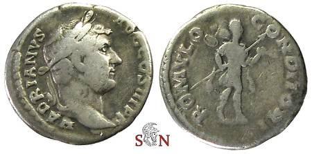 Ancient Coins - Hadrianus Denarius - ROMVLO CONDITORI - RIC 266