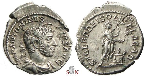 Ancient Coins - Elagabalus Denarius - SACERD DEI SOLIS ELAGAB - RIC 131