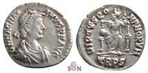 Ancient Coins - Magnus Maximus Siliqua - VIRTVS ROMANORVM - Trier mint - RIC 84 b