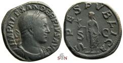 Ancient Coins - Severus Alexander Sestertius - SPES PVBLICA - RIC 648